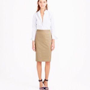 J Crew Wool Tan/Beige Tall Pencil Skirt